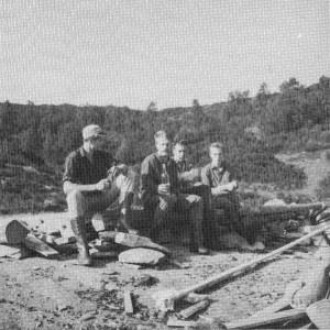 Frå venstre: Leif Vik, Johannes Kvåle, Per Vik og Leif Magne Vik.